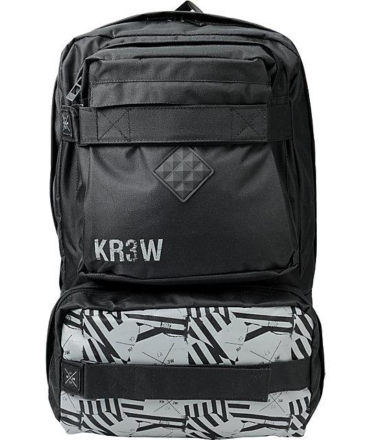 KR3W Ditch Black Skate Backpack