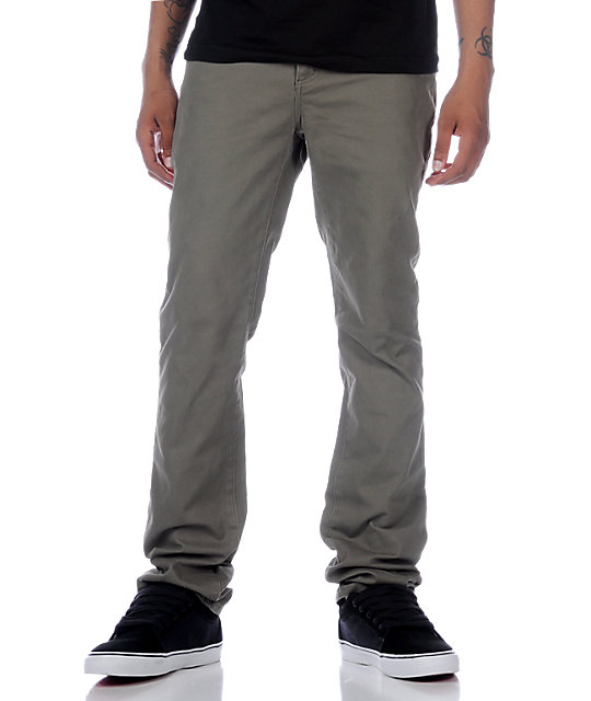 KR3W EE Slims Twill Olive Pants