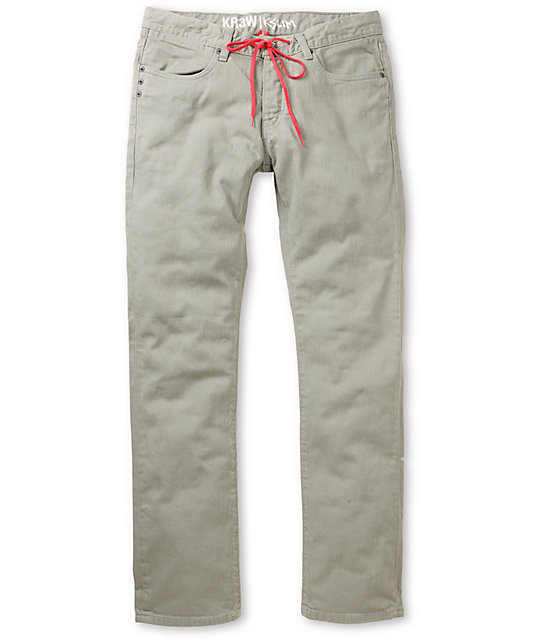 KR3W Erik Ellington Cement Grey K Slim Jeans