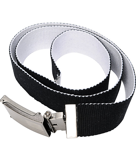 KR3W Flag Black & White Reversible Belt
