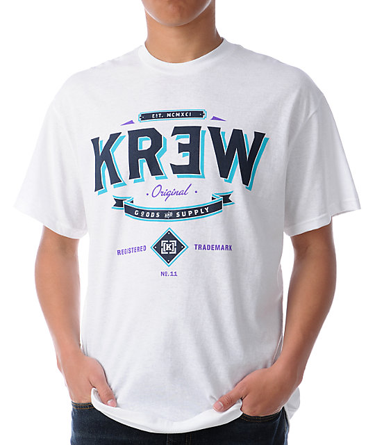 KR3W Goods White T-Shirt