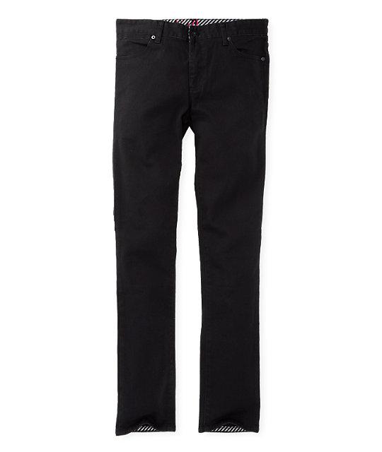 KR3W Greco Slims Black Jeans