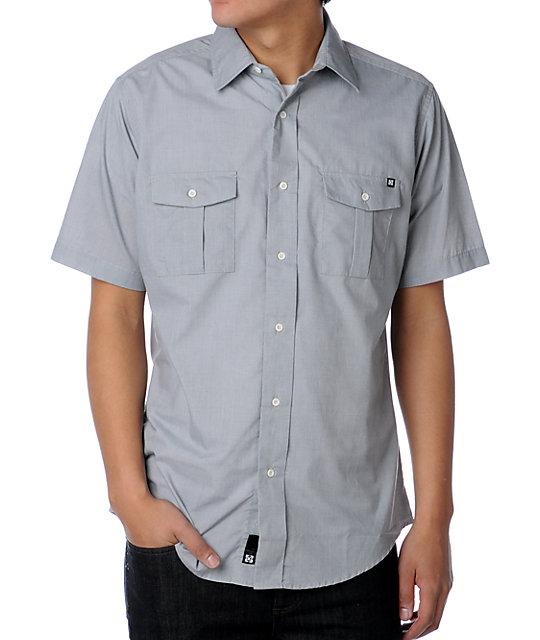 KR3W Jailbird Grey Woven Shirt
