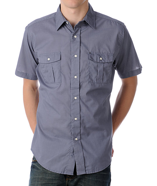 KR3W Jailbird Light Blue Woven Shirt