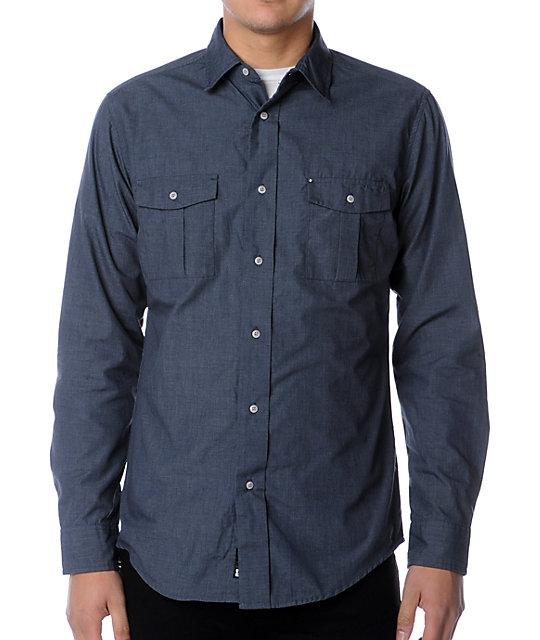 KR3W Jailbird Navy Woven Shirt