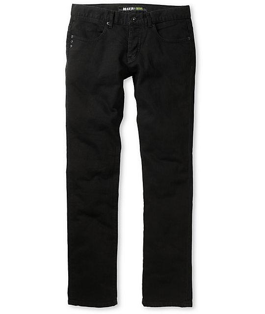 KR3W Jet Black K Skinny Jeans