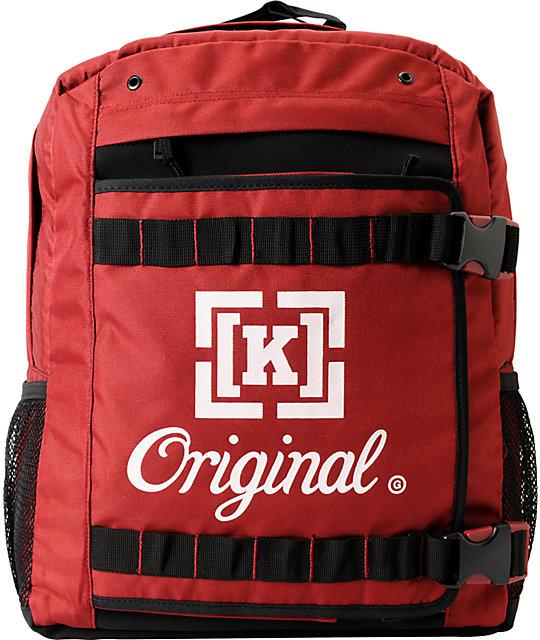 KR3W K-Original Red Skate Backpack