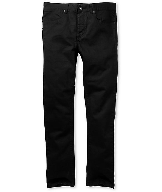 KR3W K-Skinny Black Super Skinny Jeans