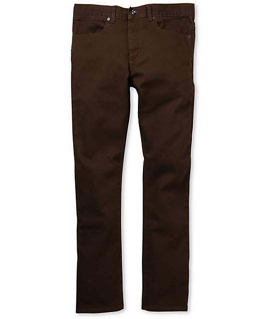 KR3W K-Skinny Chocolate Brown Super Skinny Jeans at Zumiez : PDP