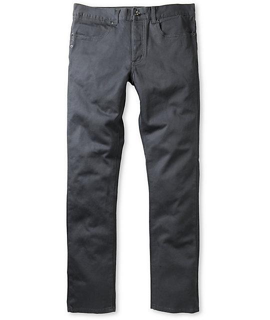 KR3W K-Skinny Grey Twill Super Skinny Jeans