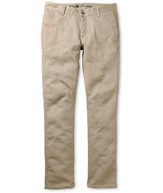 KR3W K-Skinny Khaki Chino Pants
