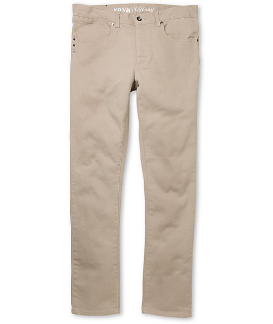 KR3W K-Skinny Khaki Denim Super Skinny Jeans