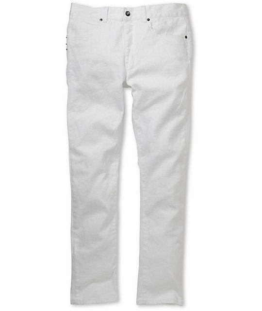 KR3W K-Skinny White Super Skinny Jeans