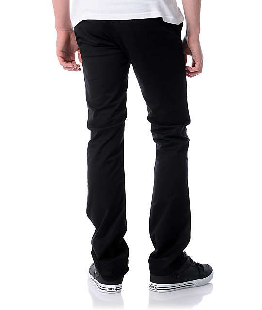 KR3W K Slim Black Chino Pants