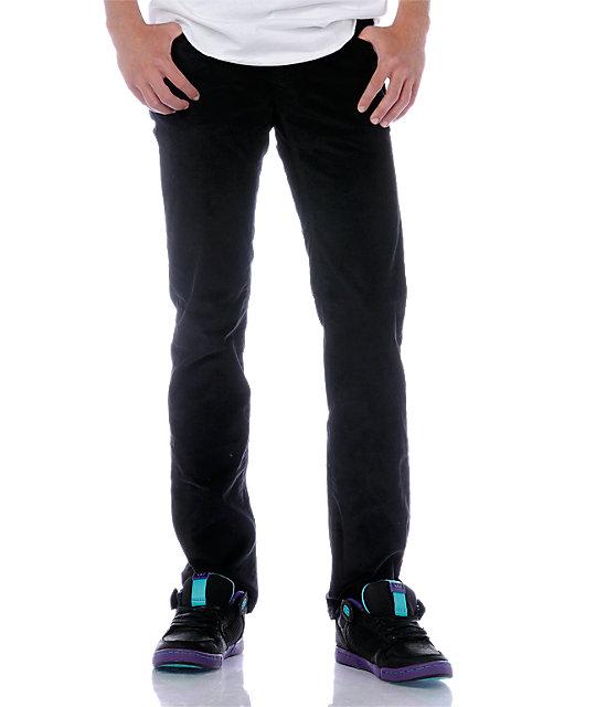KR3W K Slim Black Cord Pants