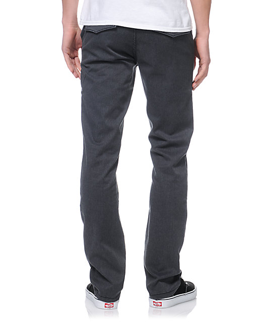 KR3W K Slim Eric Ellington Heather Grey Chino Pants