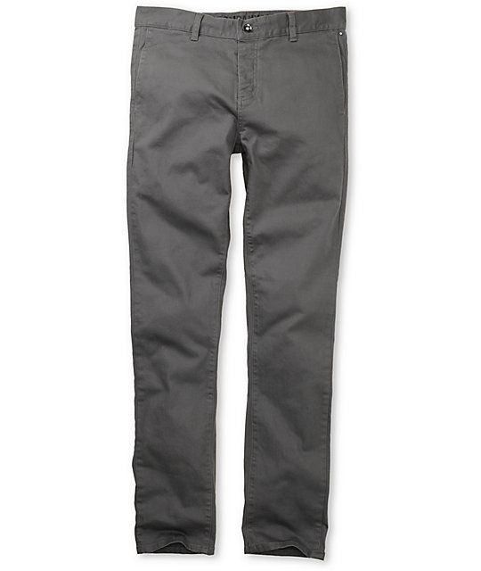 KR3W K Slim Grey Chino Pants