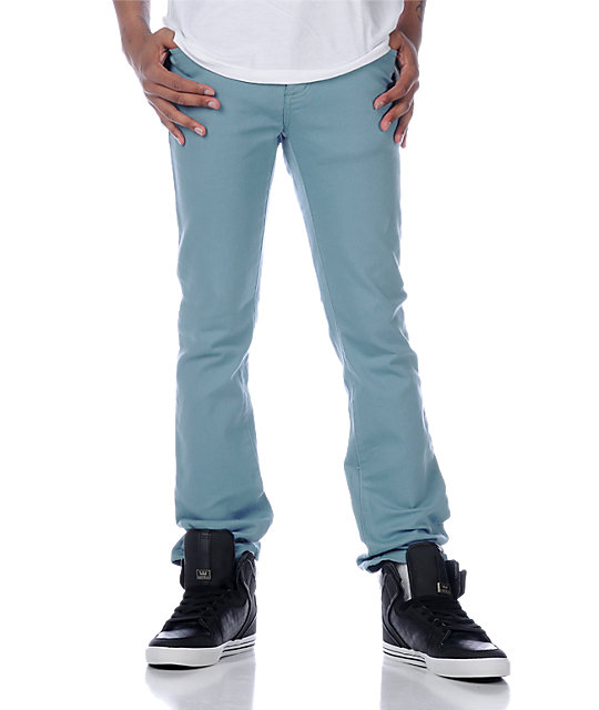KR3W K Slim Light Blue Jeans
