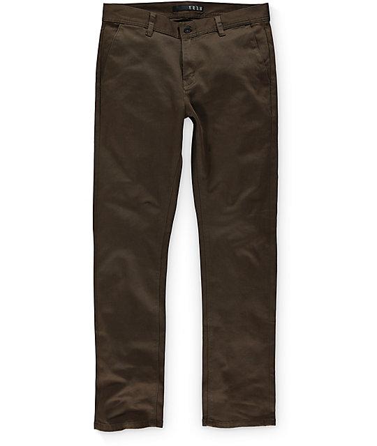 KR3W K Slim Moss Green Chino Pants