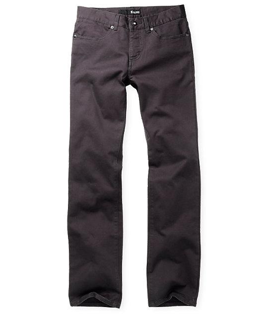 KR3W K Slim Twill Charocal Pants