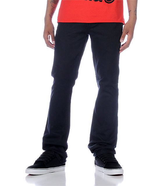 KR3W K Slim Twill Dark Navy Pants