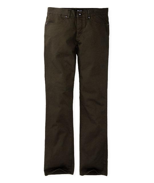 KR3W K Slim Twill Olive Pants
