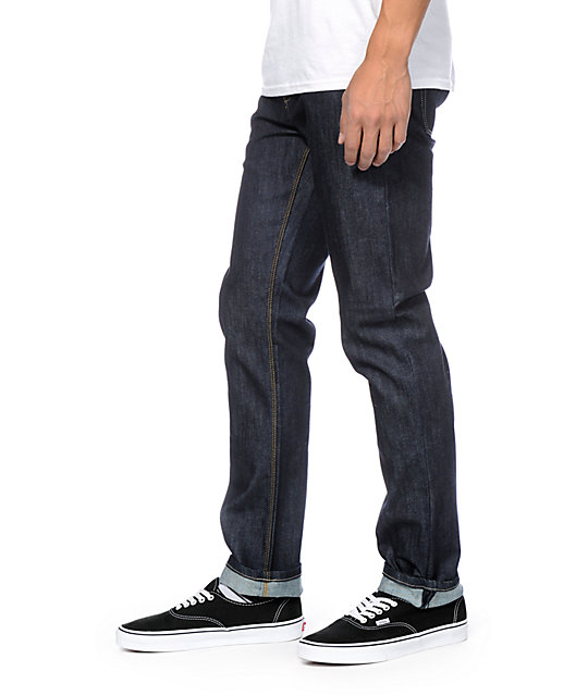 KR3W K Standard Dark Blue Slim Fit Jeans