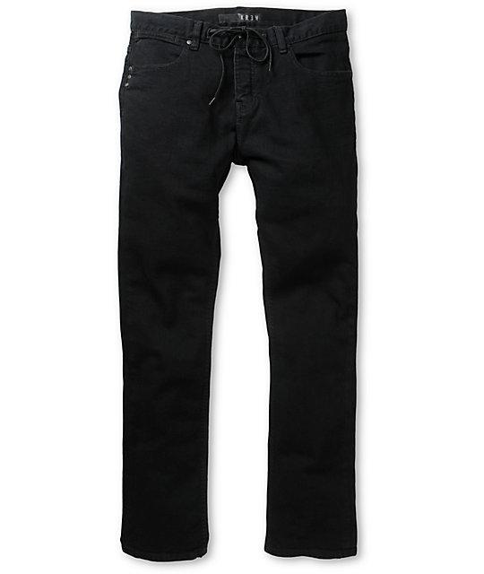 KR3W K Standard Rehab Black Slim Fit Jeans