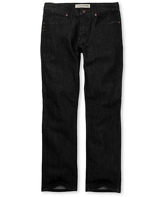 KR3W Klassic Basic Black Jeans
