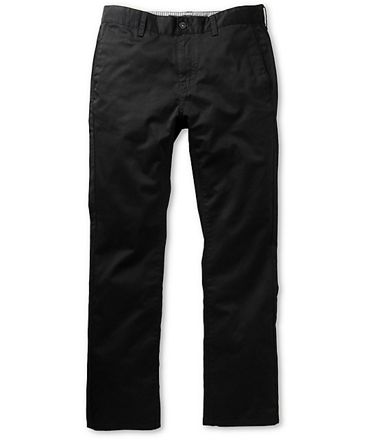 KR3W Klassic Black Regular Fit Chino Pants