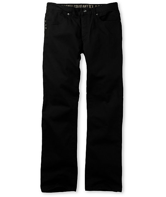 KR3W Klassic Black Twill Pants