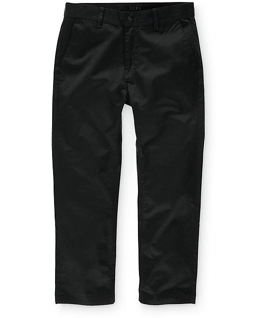 KR3W Klassic Cropped Black Chino Pants