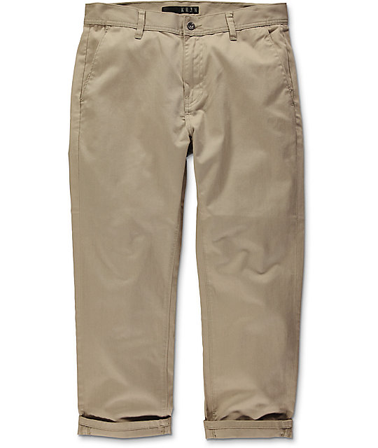 KR3W Klassic Cropped Khaki Chino Pants