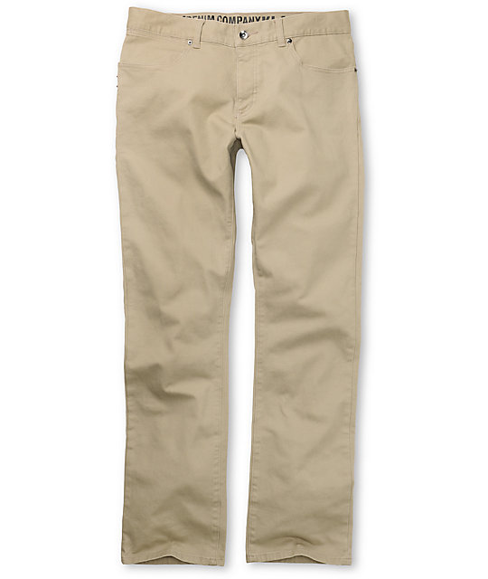 KR3W Klassic Khaki Twill Pants