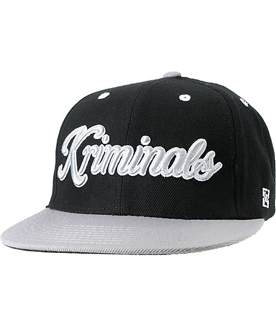 KR3W Kriminals Black & Grey Snapback Hat