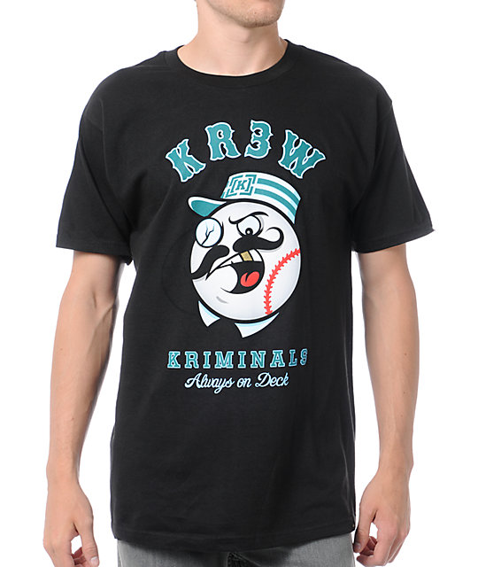 KR3W Kriminals Black T-Shirt