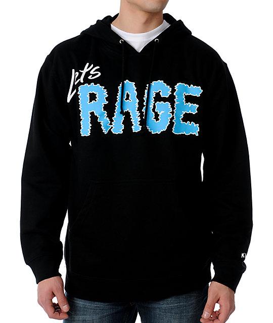 KR3W Lets Rage Black Pullover Hoodie
