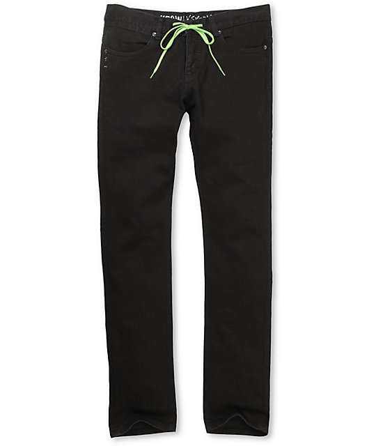 KR3W Lizard King Black Skinny Jeans
