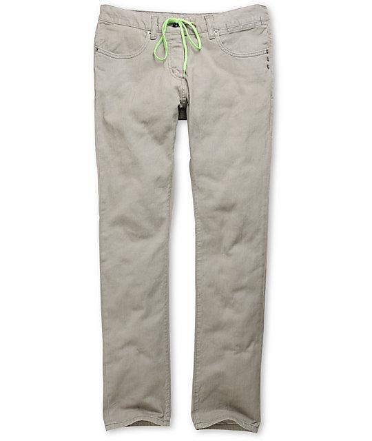 KR3W Lizard King Grey Skinny Jeans