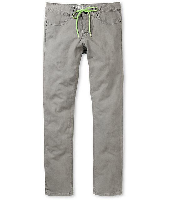KR3W Lizard King K-Skinny Grey Super Skinny Jeans