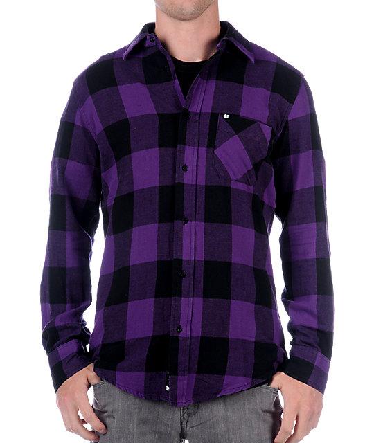 KR3W Lo Purple Flannel Shirt
