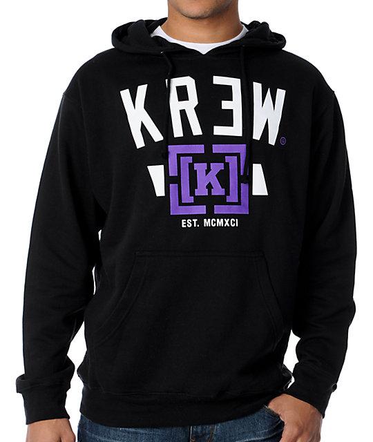 KR3W Lock Up Black Pullover Hoodie