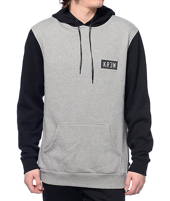 KR3W Locker Box Black & Heather Grey Hoodie at Zumiez : PDP