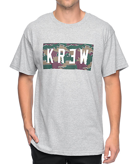 KR3W Locker Camo Heather Grey T-Shirt