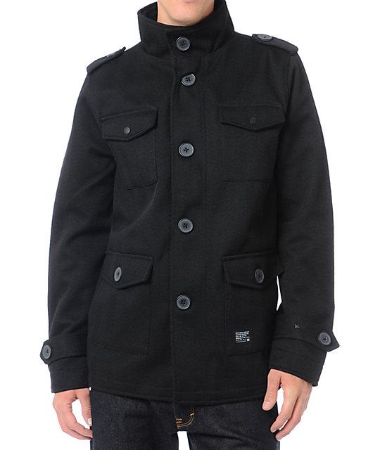 KR3W Manchester Black Herringbone M-65 Jacket
