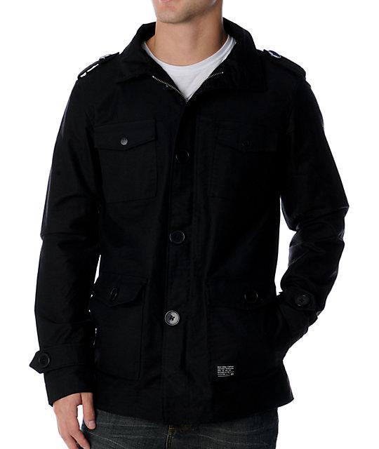 KR3W Manchester M-65 Black Canvas Jacket