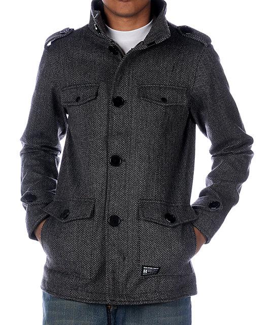 KR3W Manchester M-65 Grey Herringbone Jacket