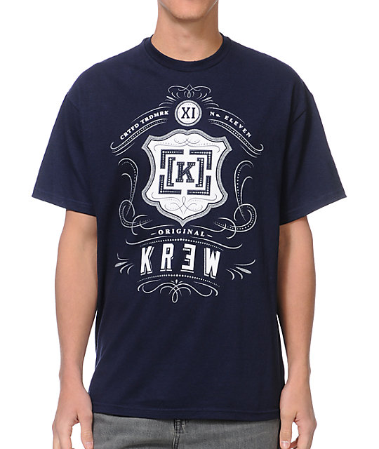 KR3W Monte Carlo Navy T-Shirt