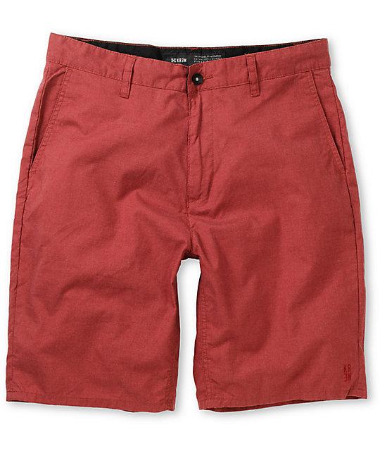 KR3W Navigator Burgundy Chino Shorts