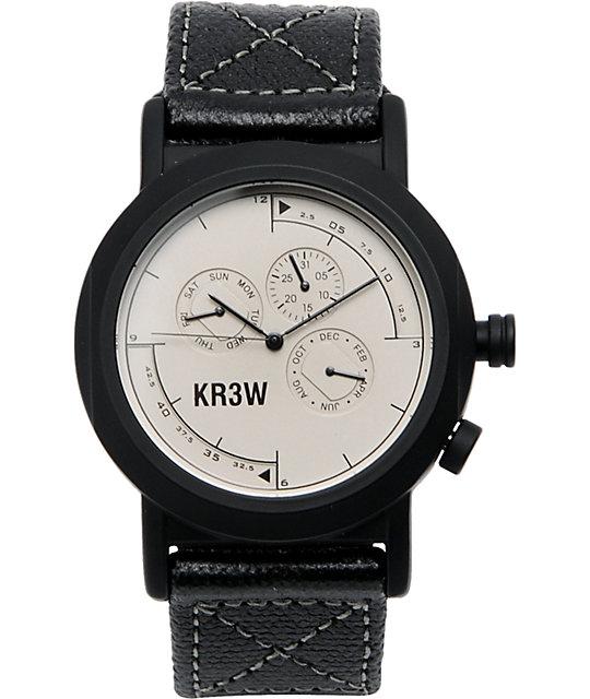 KR3W Navigator White Analog Watch